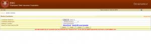ESI Excel sheet upload