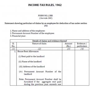 investment declaration form 12bb