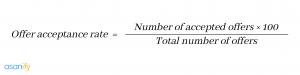 acceptance rate formula