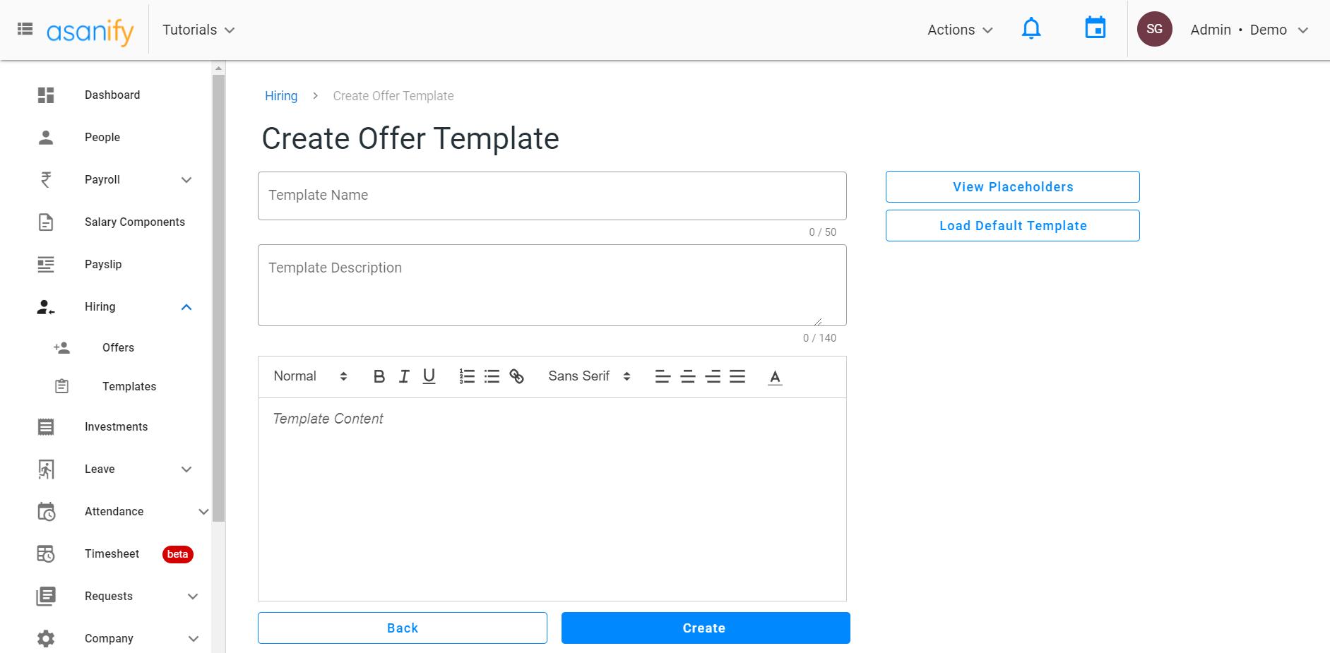 create offer letter